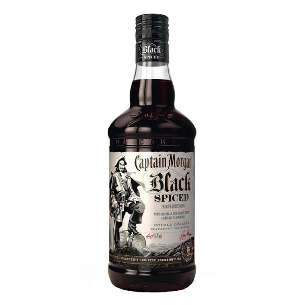 Rom Captain Morgan Black Spiced  1 L