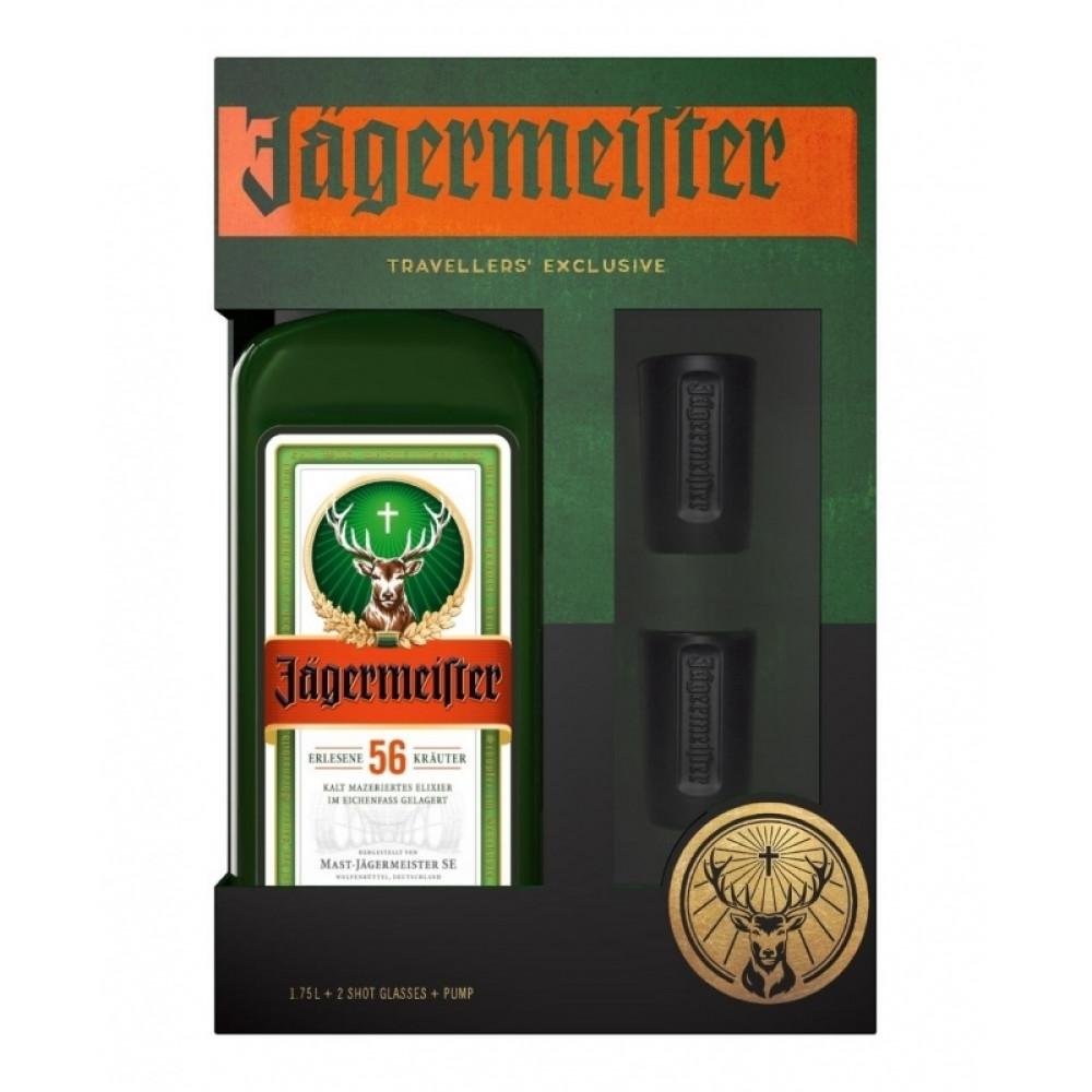 Jagermeister + 2 Glass Shot + Pump 1.75L