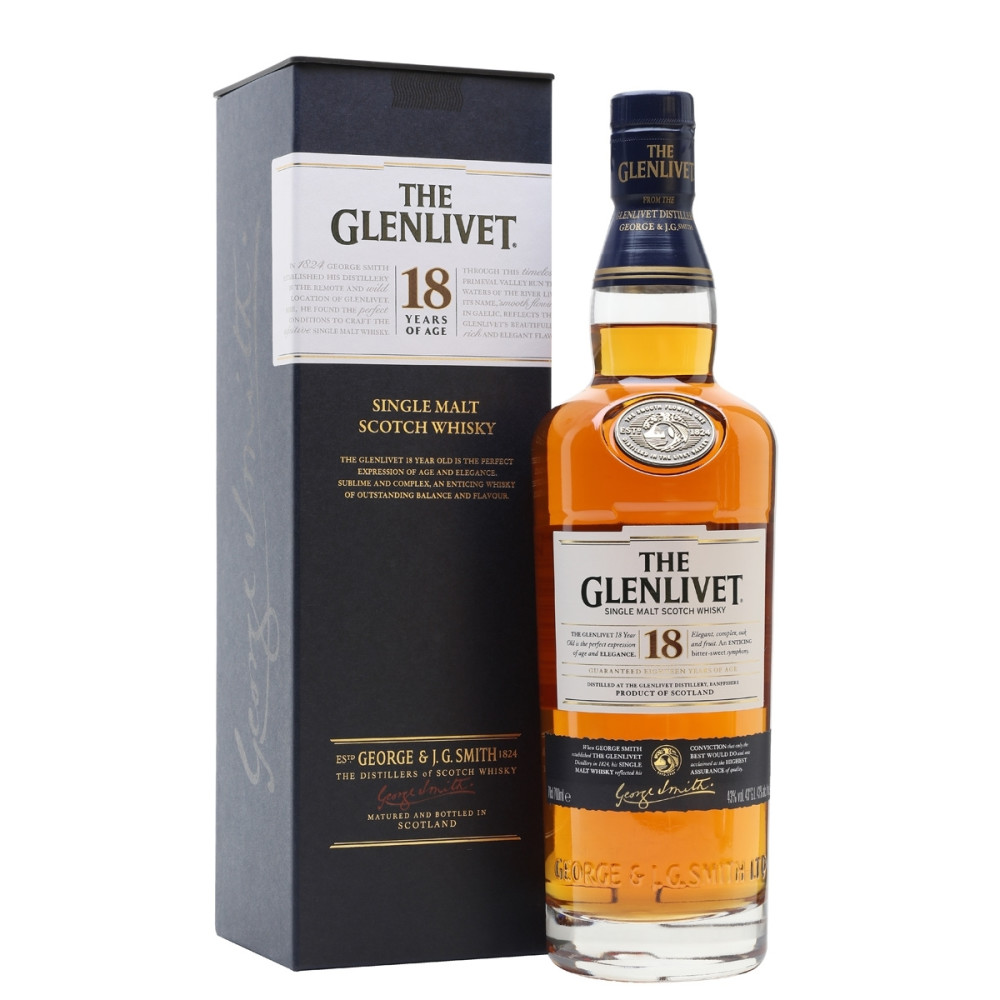 Whisky The Glenlivet 18 ani 0.7L