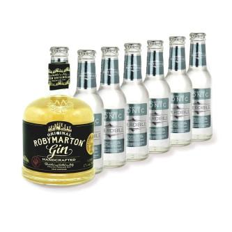Gin Roby Marton 0.7L + 6x Imperdibile Tonica Wild Botanical 0.2L